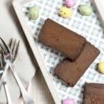 three slices of a decadent moist chocolate truffle cake