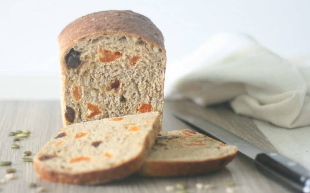 spiced apricot date and seed bread
