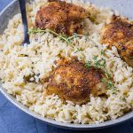 steam oven baked chicken and rice