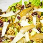steam oven roasted pear and walnut salad