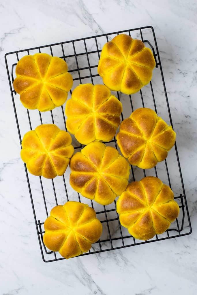 fresh baked pumpkin rolls