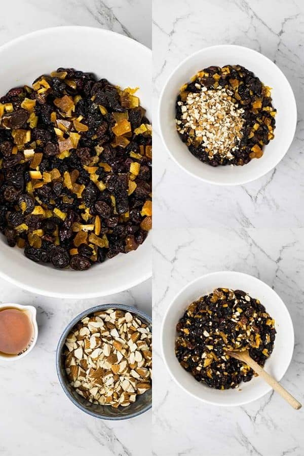steps for soaking fruit for christmas pudding