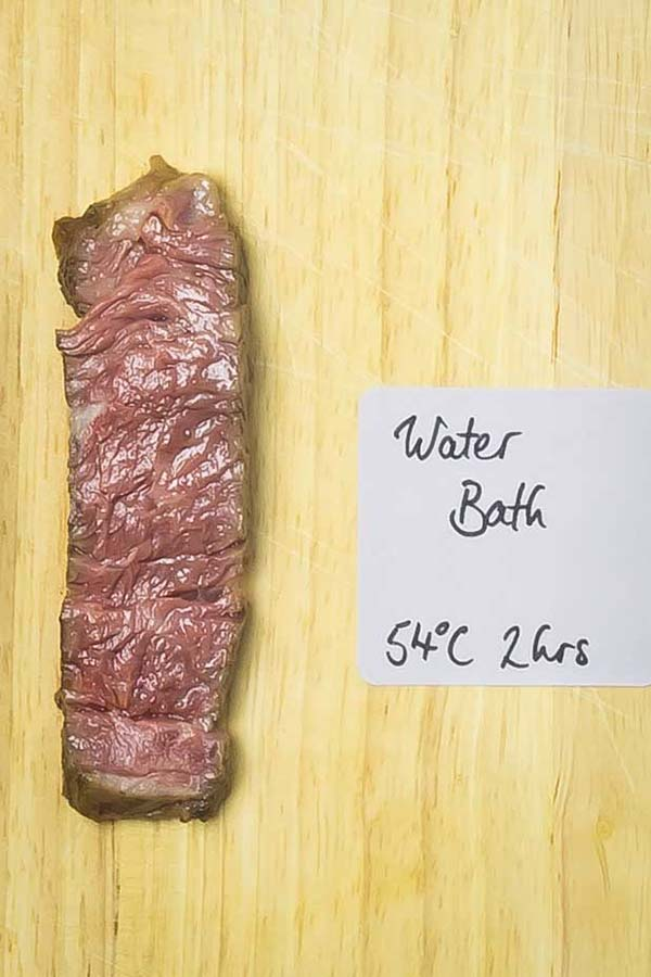 slice of cooked steak