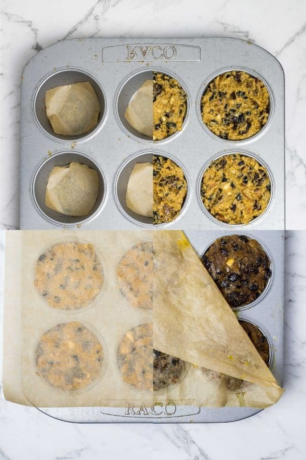filling pans and steaming christmas puddings