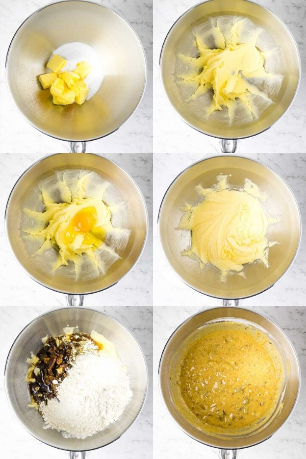 steps for mixing sticky date puddings