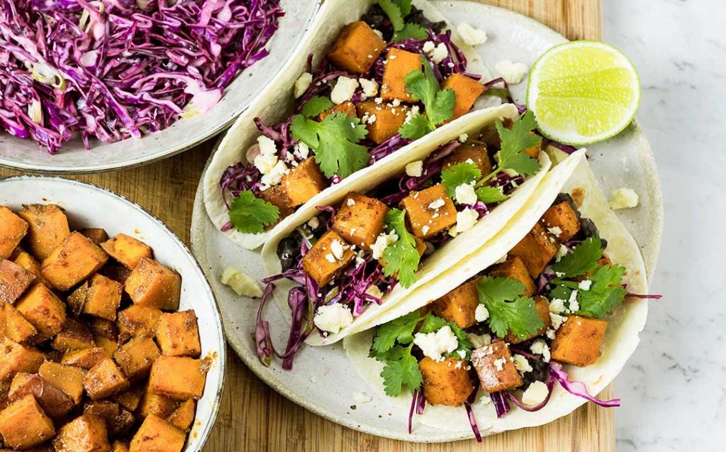 sweet potato soft tacos