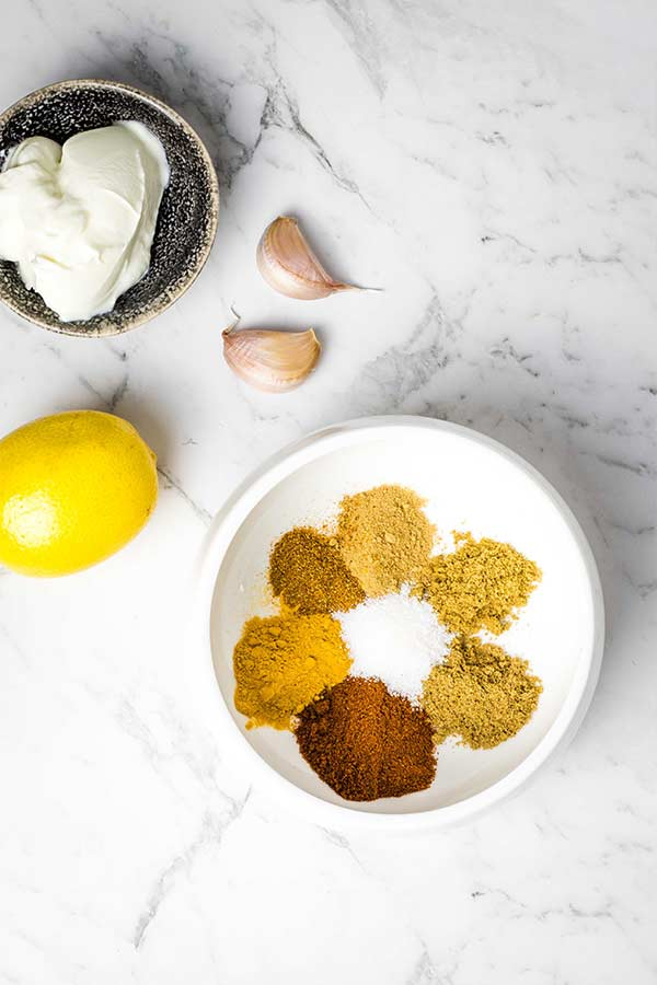ingredients for tandoori marinade