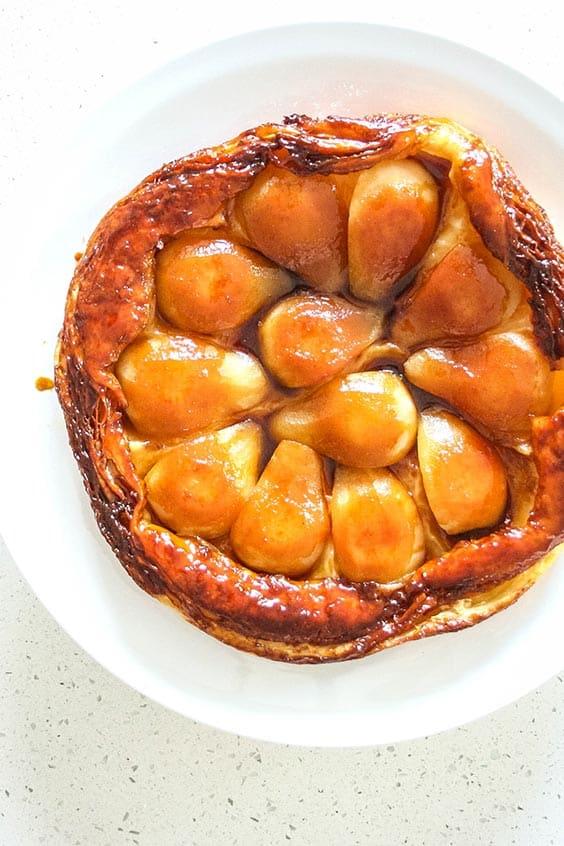 tarte tatin baked in a combi steam oven
