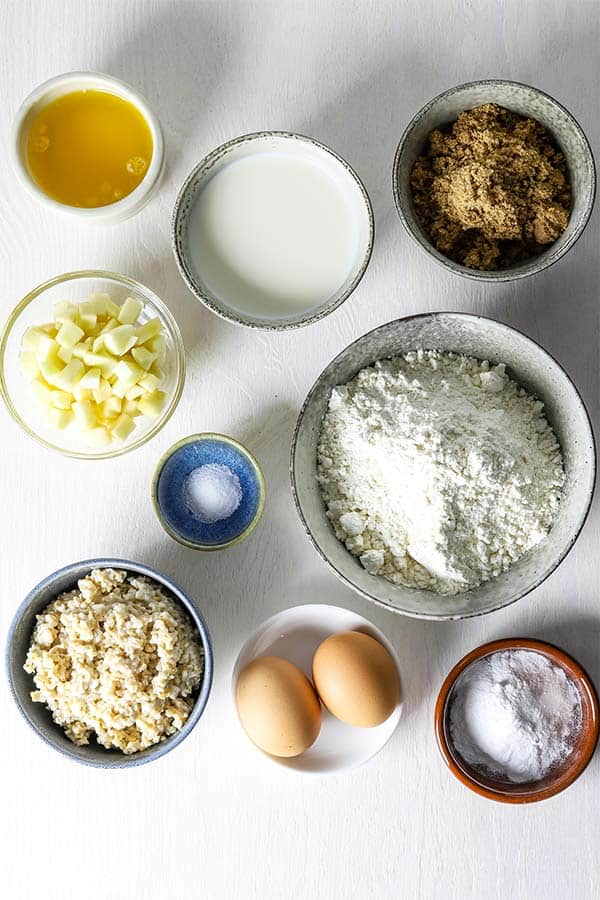 ingredients for oatmeal muffins