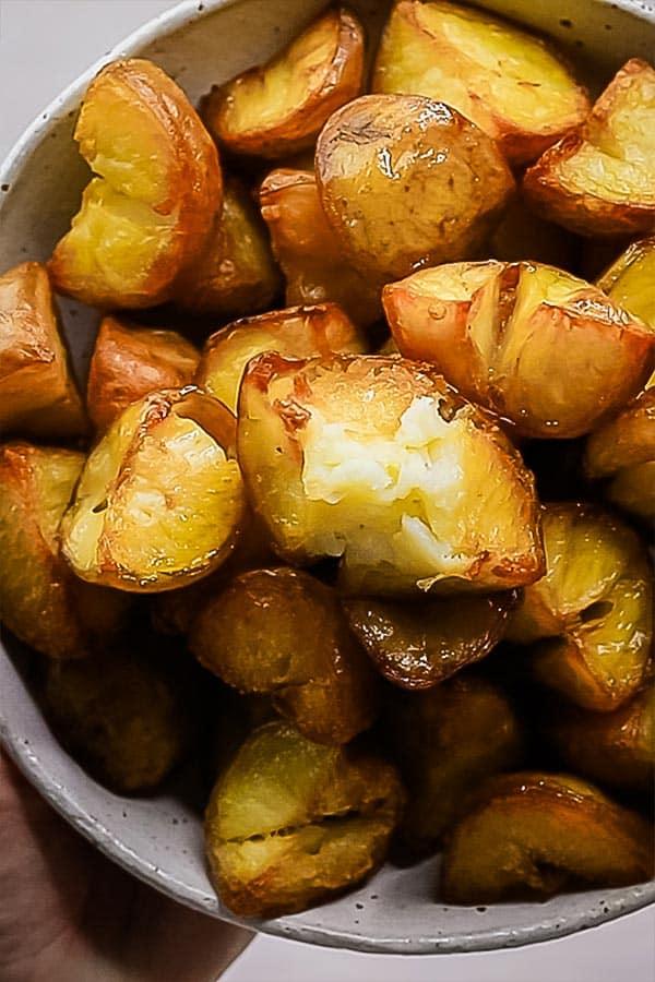 bowl of crispy potatoes